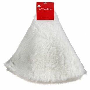 White Faux Fur Tree Skirt Wayfair