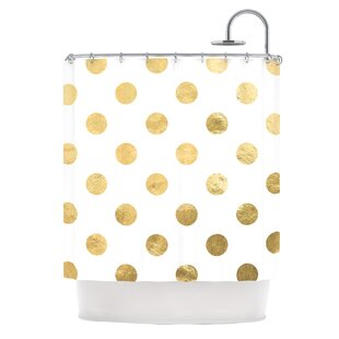 Scattered Metallic Single Shower Curtain