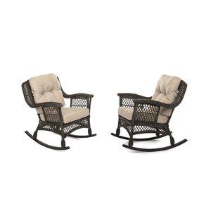 Demps Outdoor Garden Rocking Chair (Set of 2)