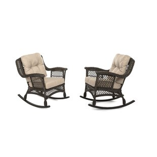Demps Outdoor Garden Rocking Chair (Set of 2) by Highland Dunes