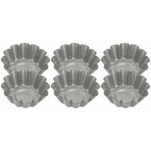 6 Cup Non-Stick Fluted Round Mini Tart Tin (Set of 6) by Judge