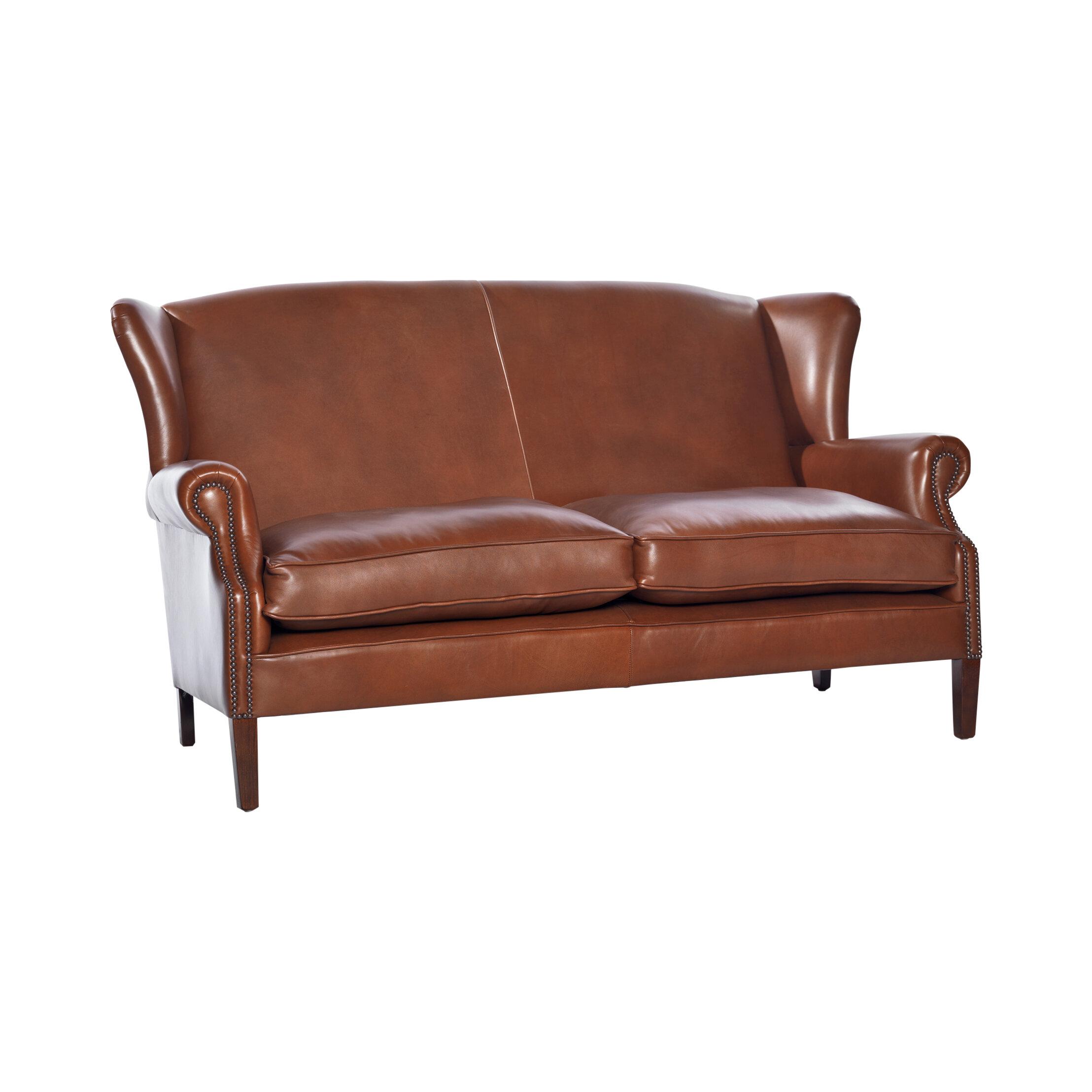 UK Icon Design Victorian Leather 3 Seater Sofa | Wayfair.co.uk