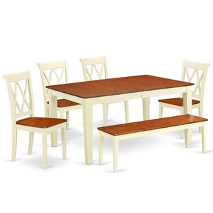 Laforce 6 Piece Extendable Solid Wood Breakfast Nook Dining Set Comparison