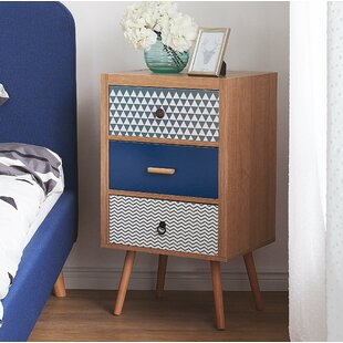 3 Drawer Bedside Table By World Menagerie