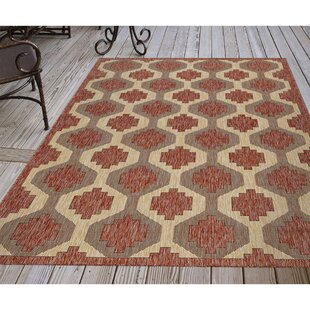 Arverne Geo Red/Beige Indoor/Outdoor Area Rug