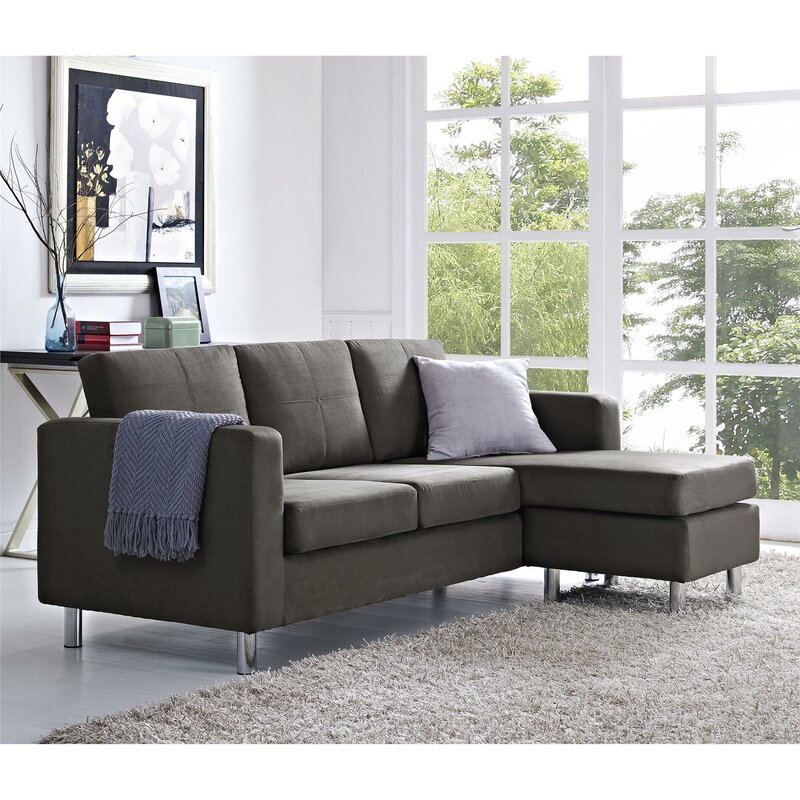 throughout regard inspire sofa pertaining sectional to wonderful pc with collection green sofas dark tufted chaise lounge reversible jackson