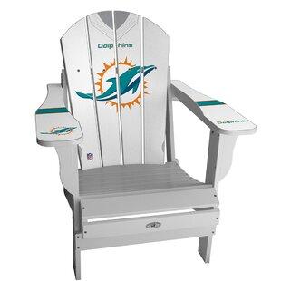 NFL Jersey Resin Folding Adirondack Chair