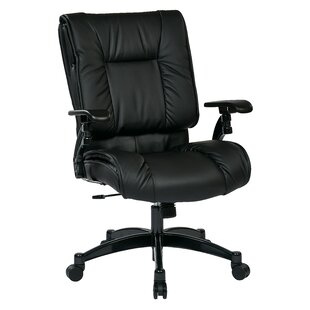Office Star Products SPACE High-Back Leather Executive Chair