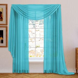 brushgrove solid sheer curtain panels set of 2