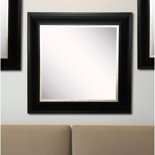 Charlton Home Kimzey Grand Black and Aged Silver Wall Mirror (Set of 3)