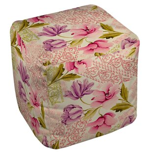 Tulips and Lace Pouf by Ma..