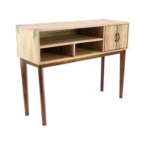 Foundry Select Allmon Rustic Mango Wood Stained Console Table