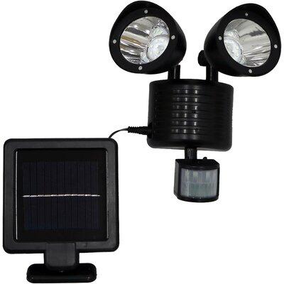 Dual Head Outdoor 1.5-Watt LED Solar Power Outdoor Security Flood Light with Motion Sensor (Pack of 1) SunnyDaze Decor