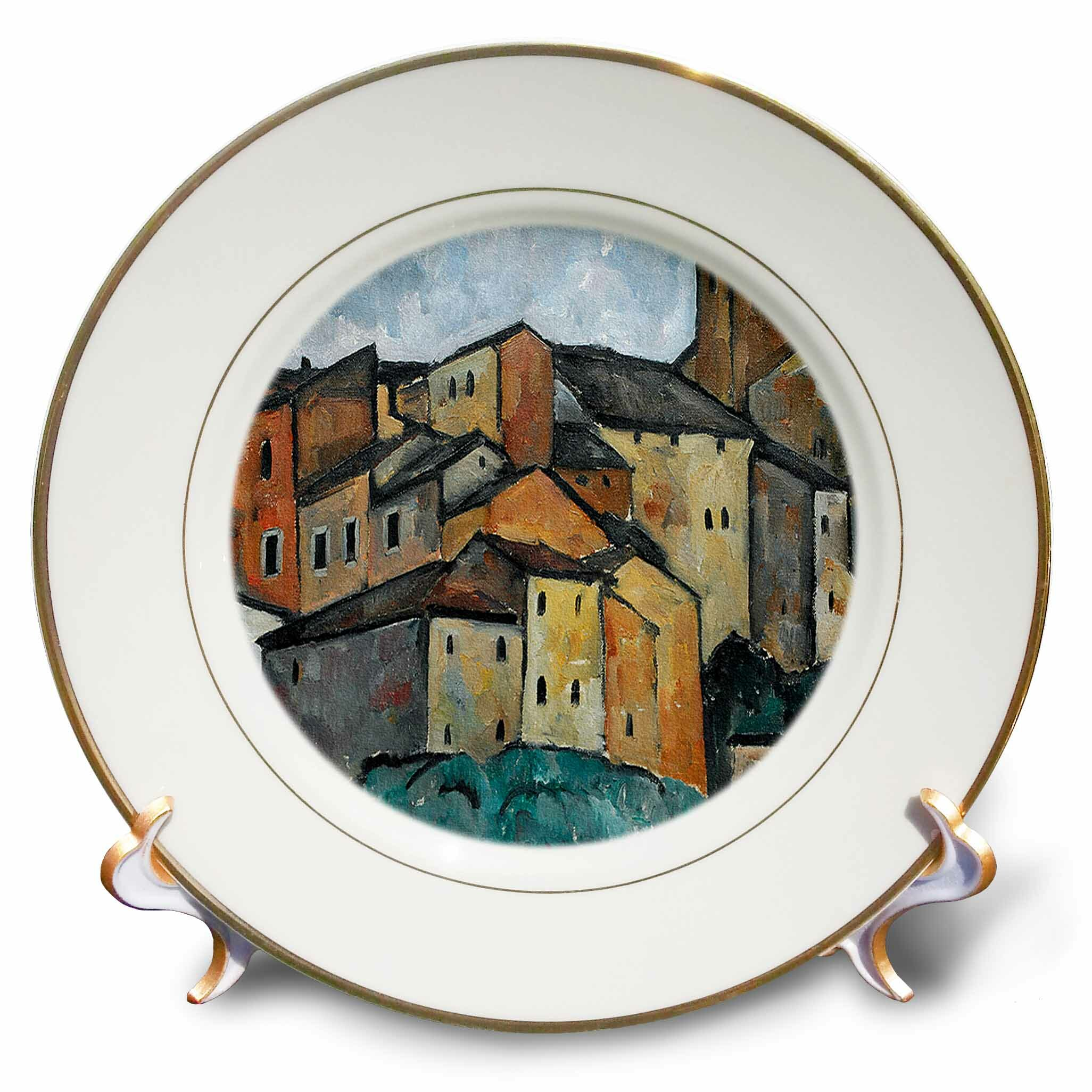 East Urban Home 1913 San Gimignano Italy Painting By Alexander Kanoldt Porcelain Decorative Plate Wayfair