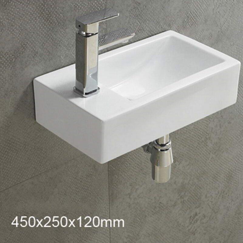 American Imaginations Center Drilling Ceramic Rectangular Wall Mount Bathroom Sink Wayfair