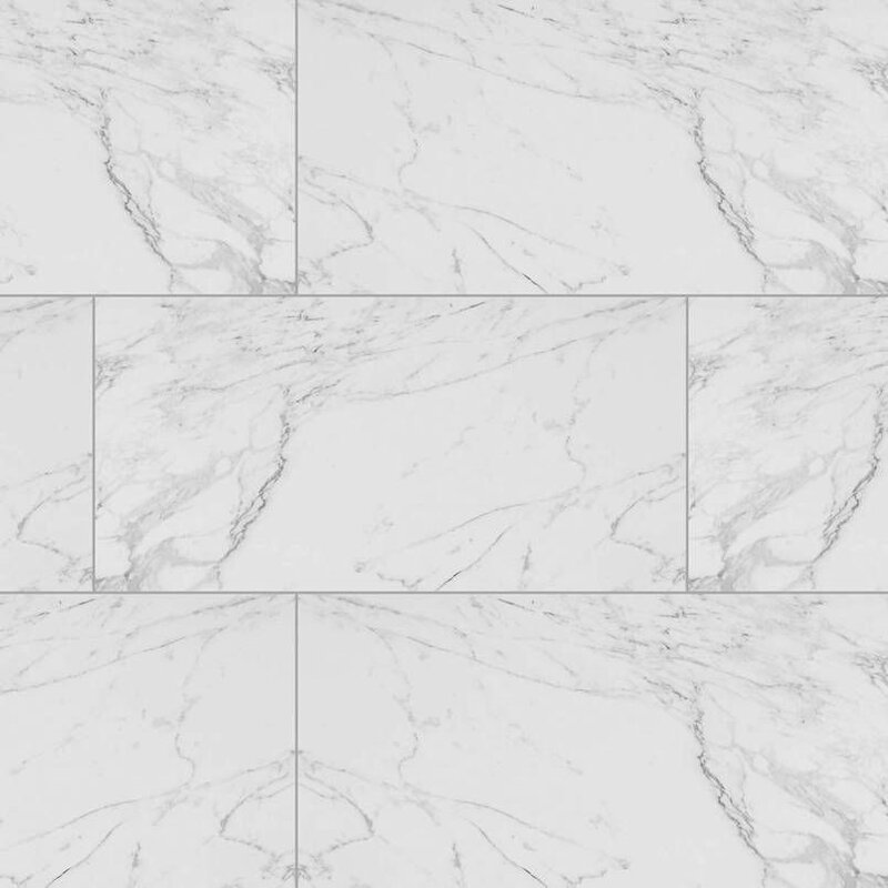 Carrara Porcelain Field Tile in White