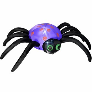 Pre-Lit Spider Inflatable Halloween With LED Light And Fan Image