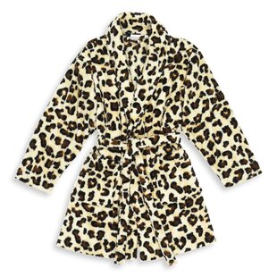 Goodrow Leopard Print Fleece Bathrobe