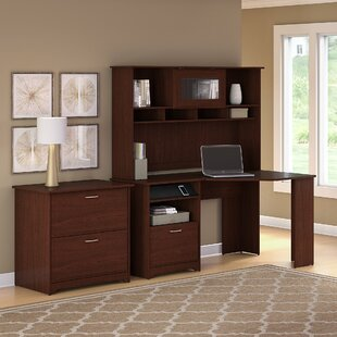 Hillsdale Corner Executive Desk With Hutch & Lateral File by Red Barrel Studio Cool