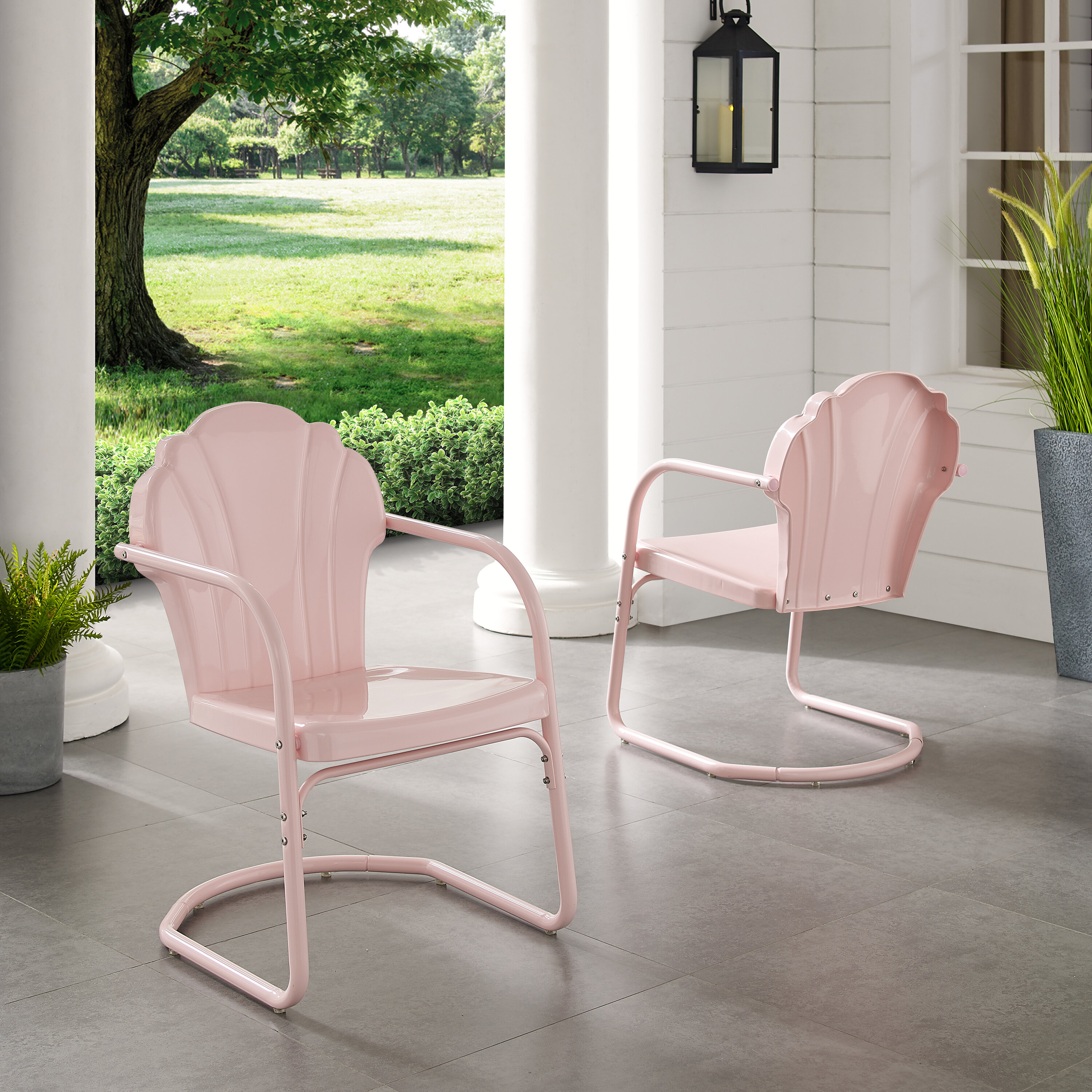 Fantastic Retro Metal Patio Chairs Wayfair Complete Home Design Collection Papxelindsey Bellcom