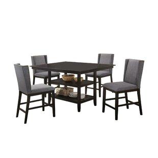 Wallach 5 Piece Pub Table Set