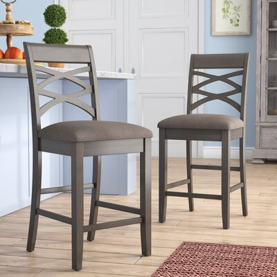 Full Back Wood Counter Height Bar Stools You Ll Love In