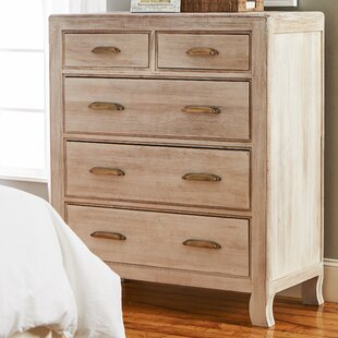Mistana Melia 5 Drawer Solid Wood Chest Image