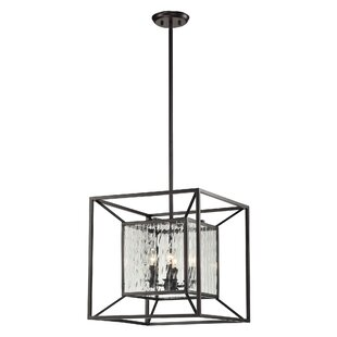 Brayden Studio Norridge 4-Light Square/Rectangle Chandelier