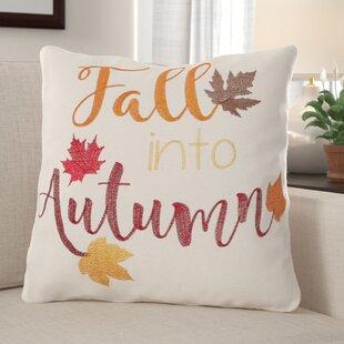 Maughan Fall Into Autumn Cotton Throw Pillow