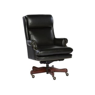 Anabelle Genuine Leather Executive Chair by Darby Home Co