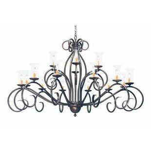 2nd Ave Design Sienna 18-Light Shaded Chandelier