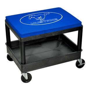 Mustang Mechanic Industrial Stool With Cushion by Go Boxes LLC Today Sale Only