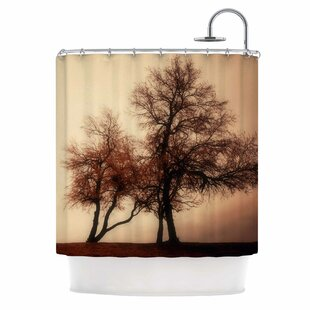 Rust Trees Shower Curtain
