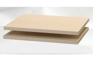 Pack of 2 Shelves Standard Bookcase