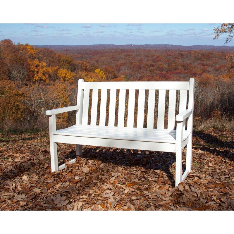 Polywood Traditional Plastic Garden Bench Reviews Wayfair