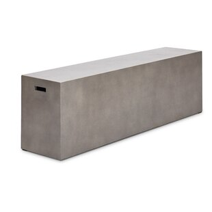 Clinchport Fiber Reinforced Natural Concrete Bench by Greyleigh