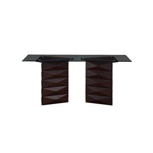 Orren Ellis Weldon Double Pedestal Base Dining Table