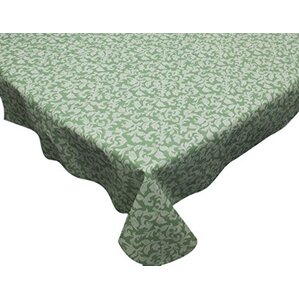 Damask Scroll Vinyl Flannel Backed Tablecloth