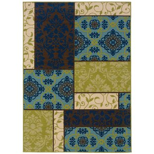 Mirari Brown/Blue Indoor/Outdoor Area Rug