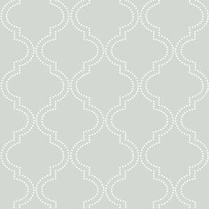 Grey Quatrefoil 18' x 20.5