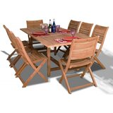Jax Extendable 9 Piece Teak Dining Set