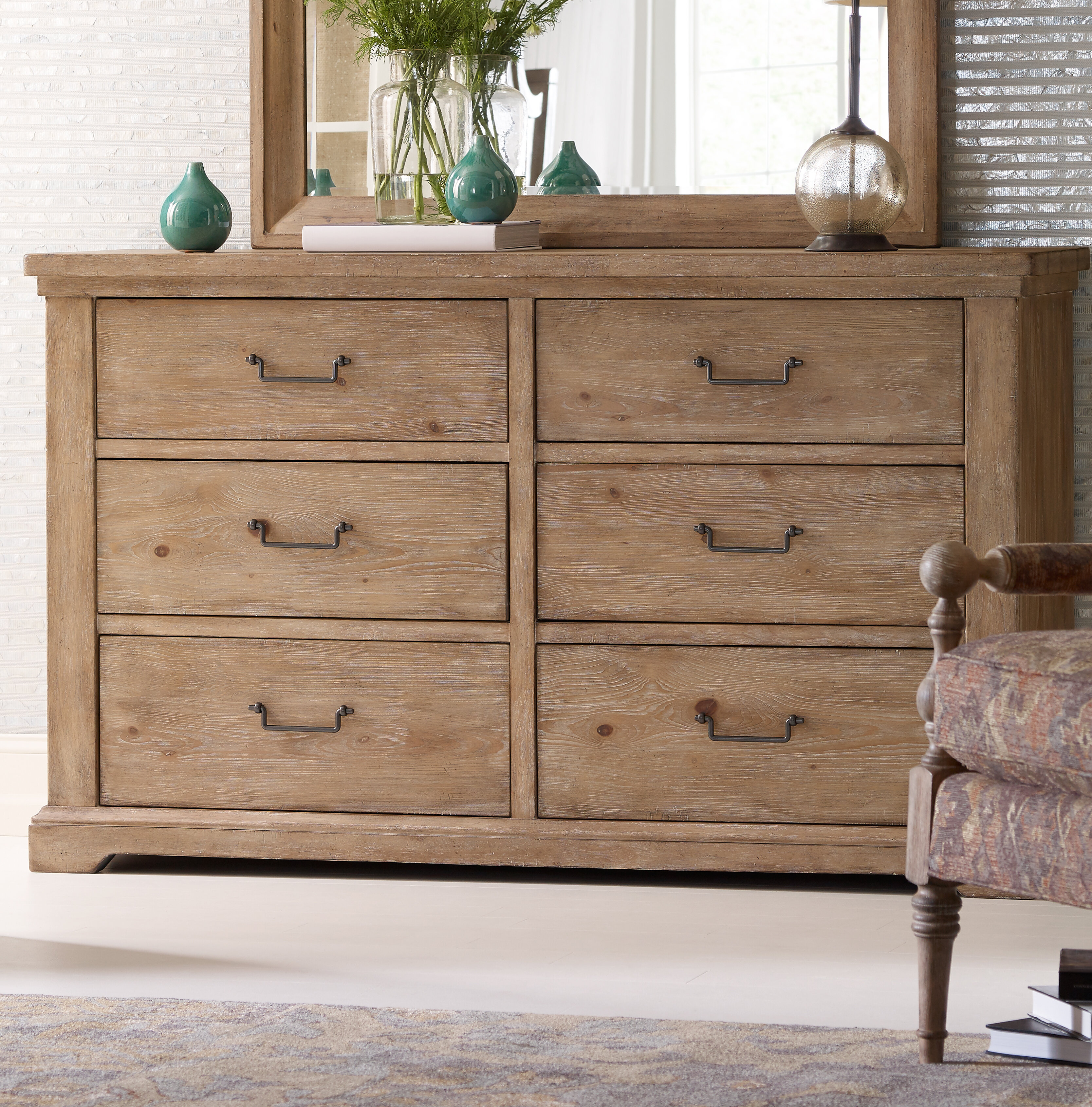 Rachael Ray Home Monteverdi 6 Drawer Double Dresser Reviews Wayfair