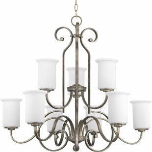 Alcott Hill Denver 9-Light Shaded Chandelier