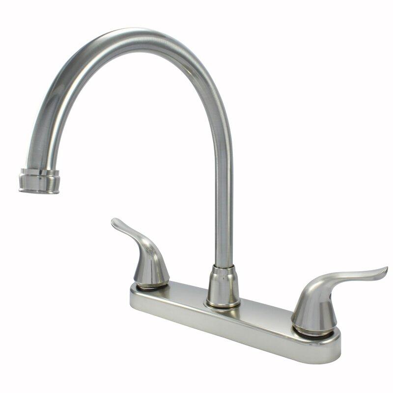 Wassermanfaucets Non Metallic High Spout Double Handle Kitchen Faucet Wayfair