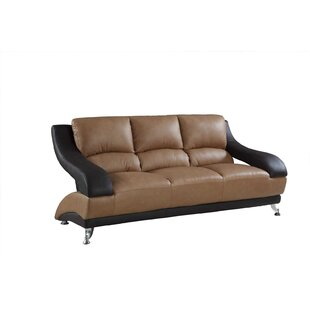 Henshaw Leather Sofa by Latitude Run Top Reviews