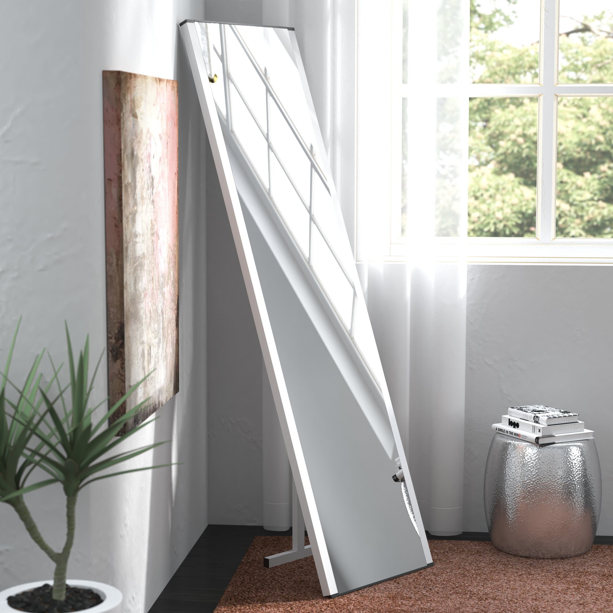 Laude Run Contemporary Illuminated Led Free Standing Full Length Mirror Wayfair