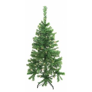 375 green pine artificial christmas tree with 50 led multicolored lights with stand
