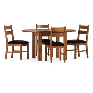 Rebekah Extendable Dining Set With 4 Chairs By August Grove