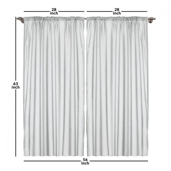 East Urban Home Striped Room Darkening Rod Pocket Curtain Panels Reviews Wayfair
