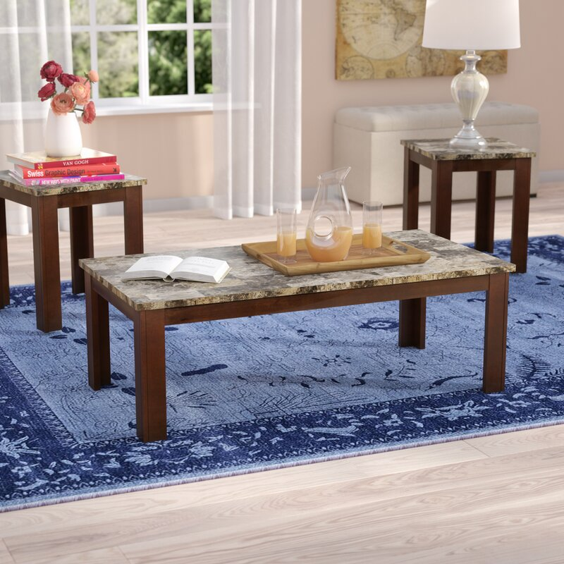 Charlton Home Cristobal 3 Piece Coffee Table Set
